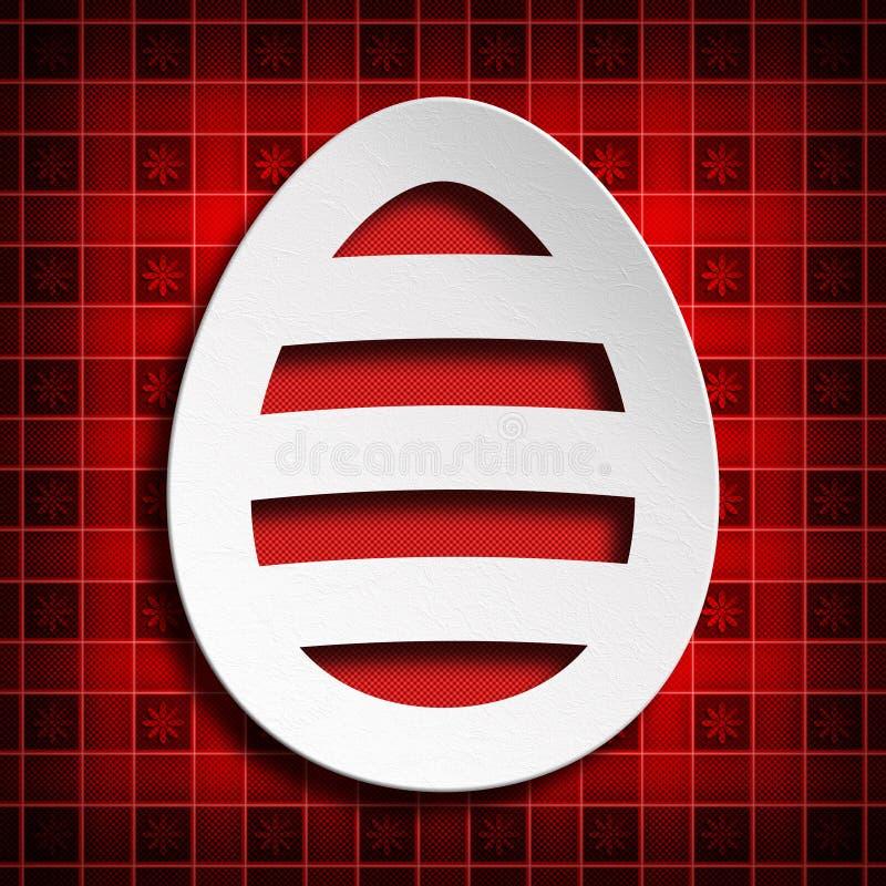 Pasqua felice - forma dell'uovo di carta illustrazione vettoriale