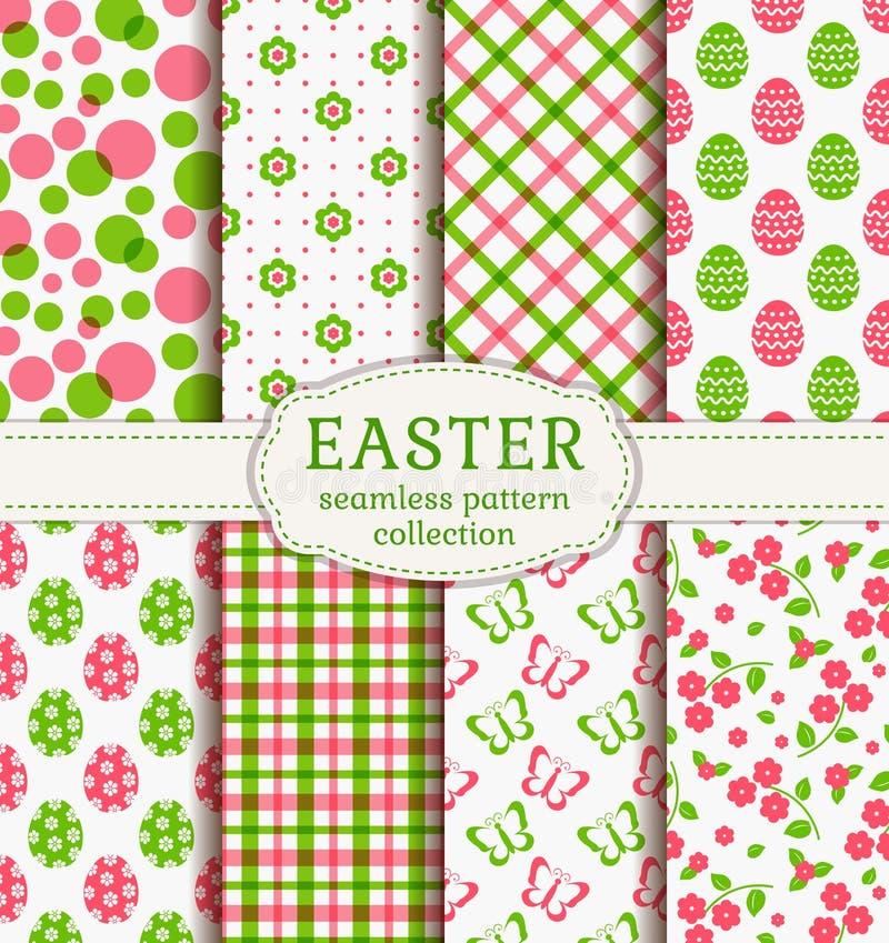 Pasqua felice! Modelli senza cuciture di vettore illustrazione di stock