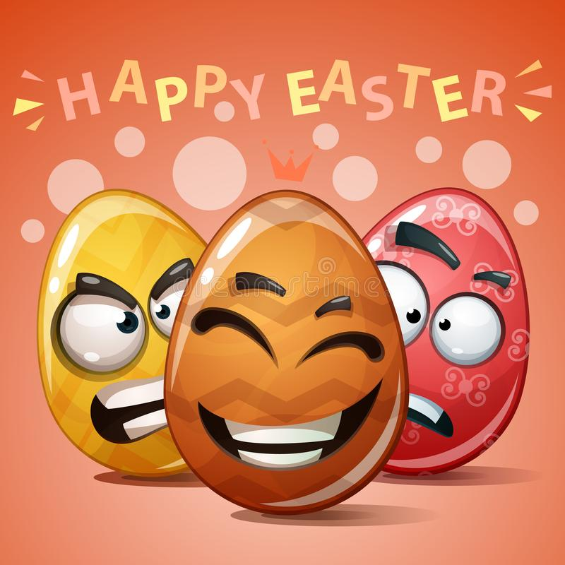 Pasqua felice, uovo rassodato di colore royalty illustrazione gratis