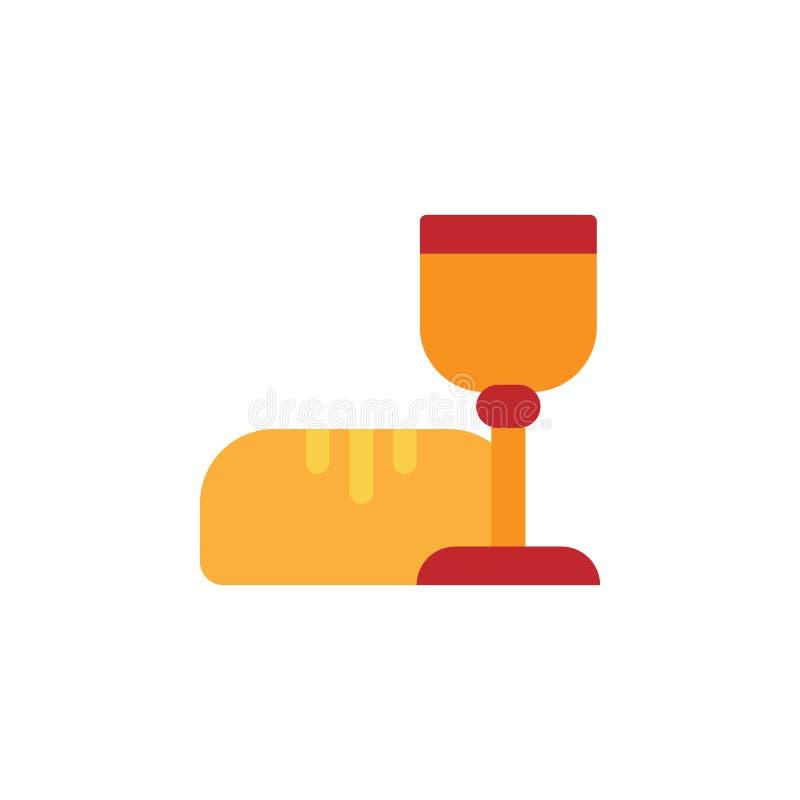 Pasqua, icona della comunione Elemento dell'illustrazione dell'easter di colore Icona di progettazione grafica di qualità Premium illustrazione vettoriale