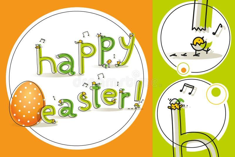 Pasqua scherza il distintivo illustrazione di stock