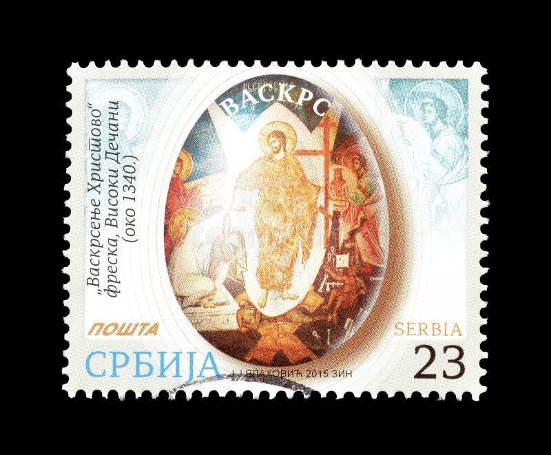 Pasqua sul francobollo immagini stock libere da diritti