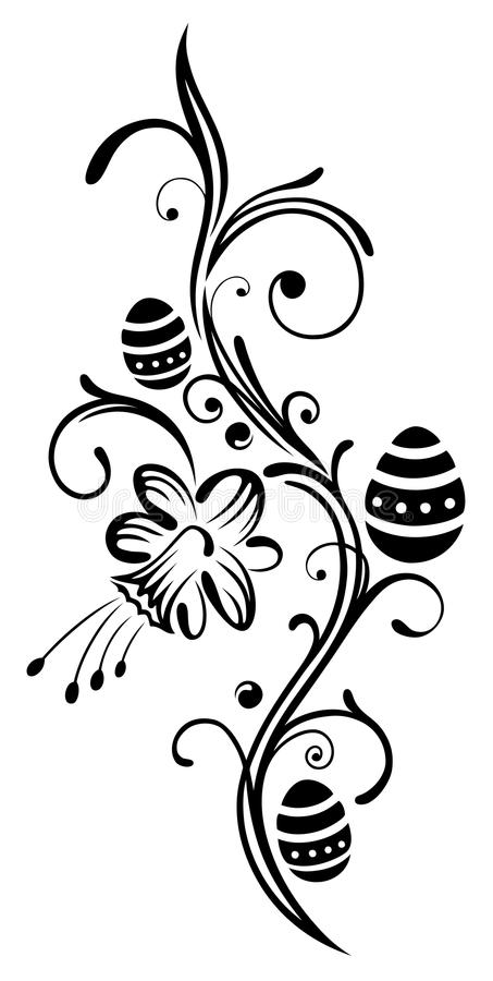 Pasqua, uova, narciso illustrazione di stock