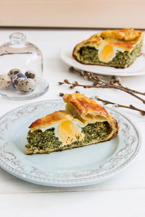 Pasqualina tart typical italian easter. royalty free stock images