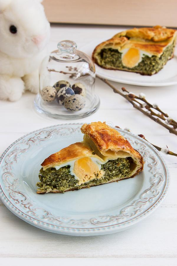 Pasqualina tart typical italian easter. stock images