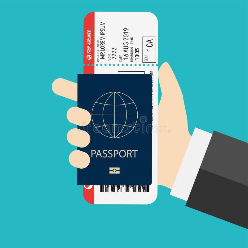Pass mit dem Pfosten vorbereitet für verschalendes Flugzeug lizenzfreie abbildung