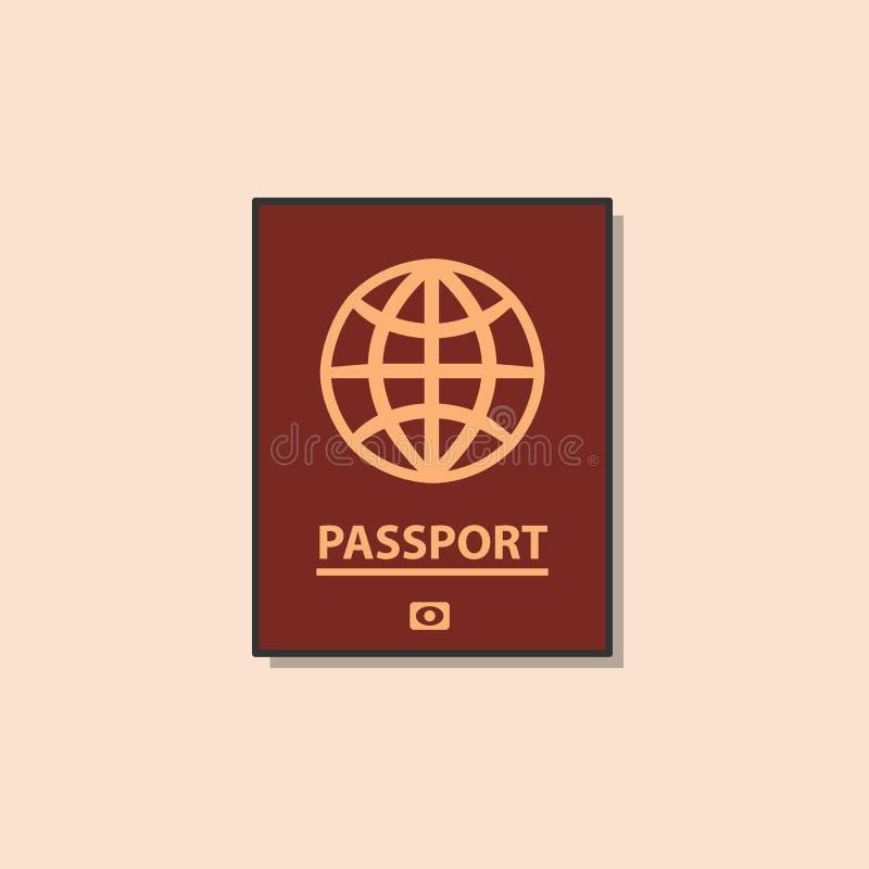 Pass plan symbol för färg stock illustrationer
