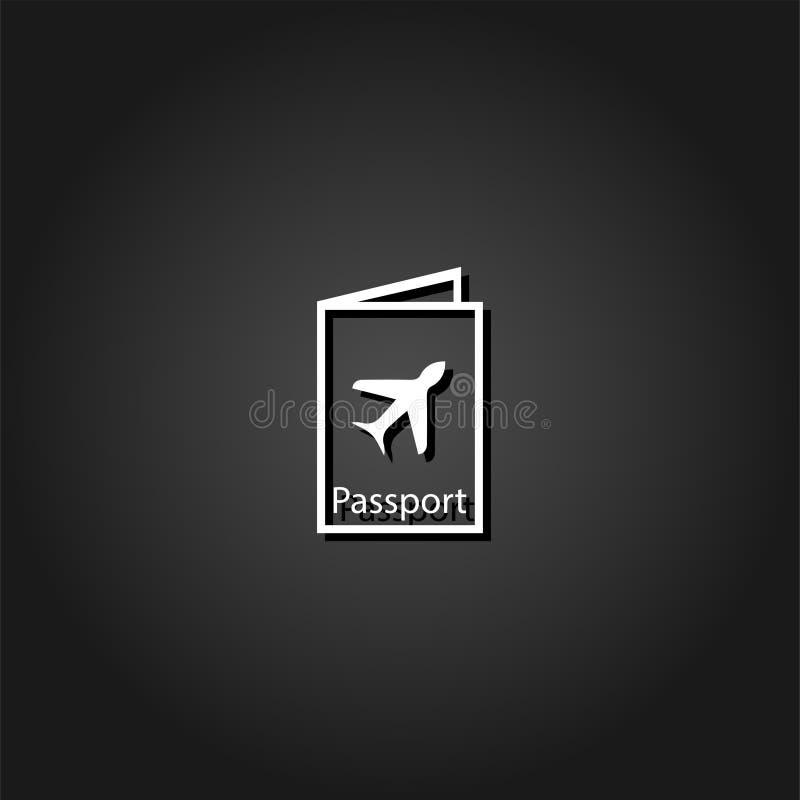 Pass reist Ikonenebene stock abbildung