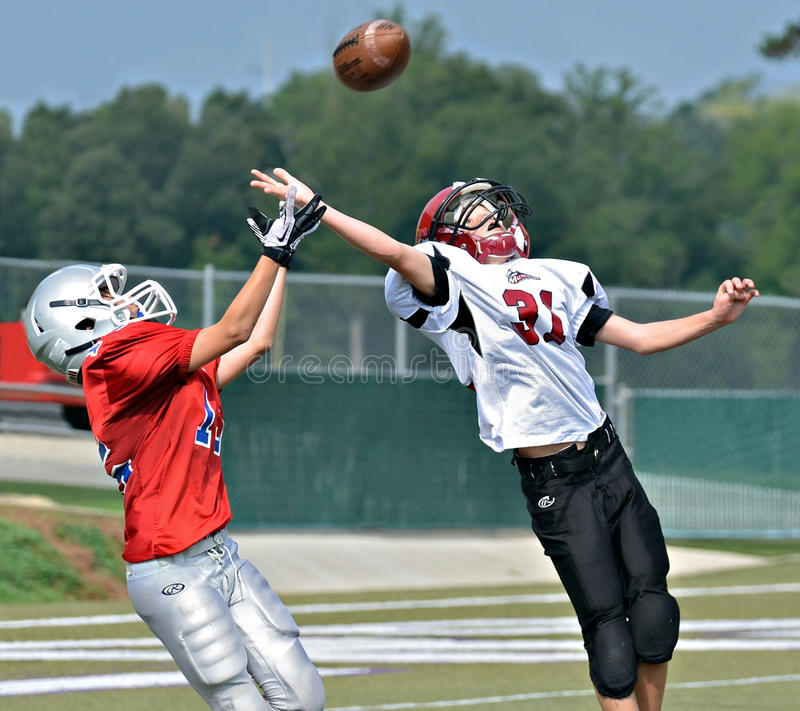 A Pass for the Touchdown royalty free stock image