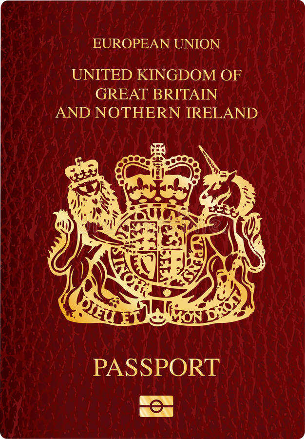 pass uk royaltyfri illustrationer