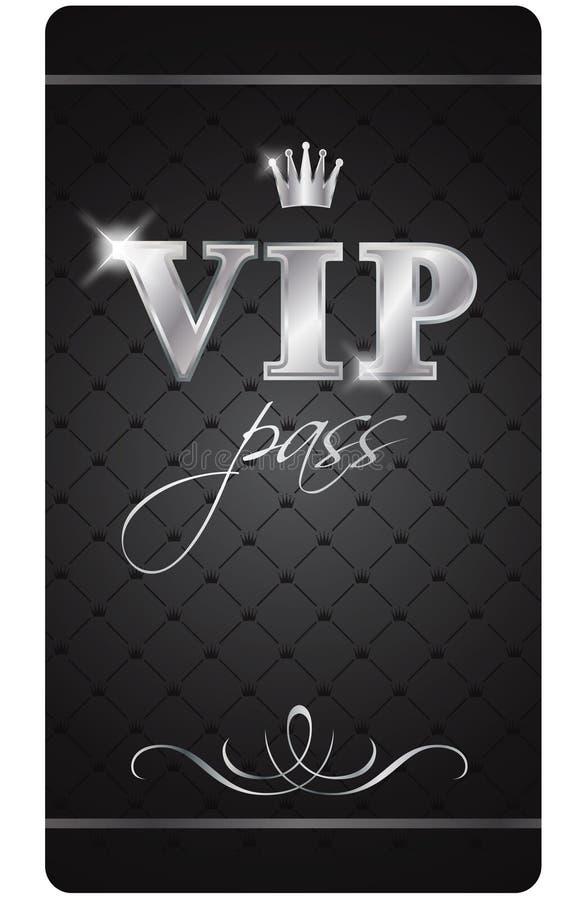 pass vip royaltyfri illustrationer