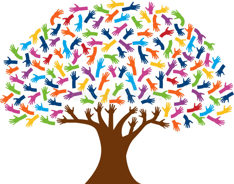 Passa il logo dell'albero illustrazione di stock