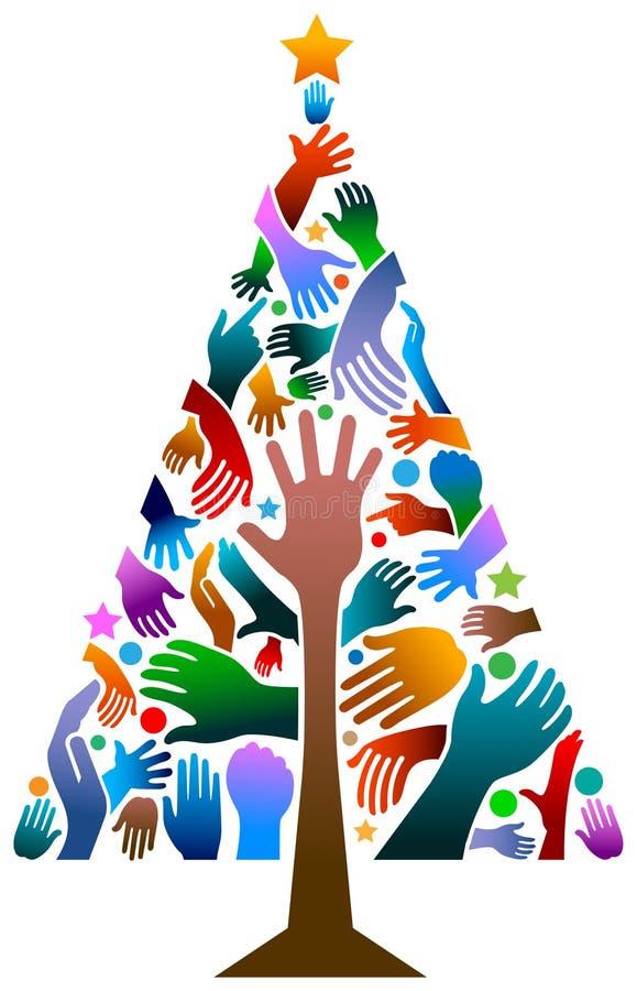Passa l'albero dei xmass royalty illustrazione gratis
