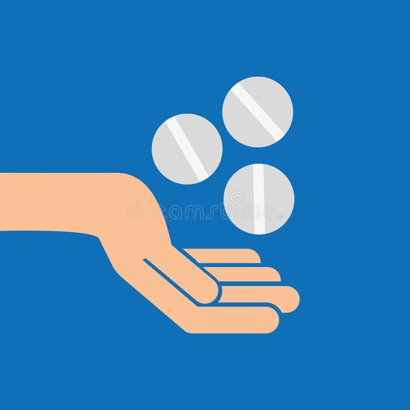 passa l'icona di cura della medicina della pillola royalty illustrazione gratis