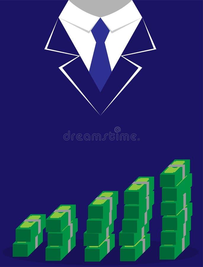 Passa symbolen, och pengarbuntsedlar traver i plan stil vektor stock illustrationer