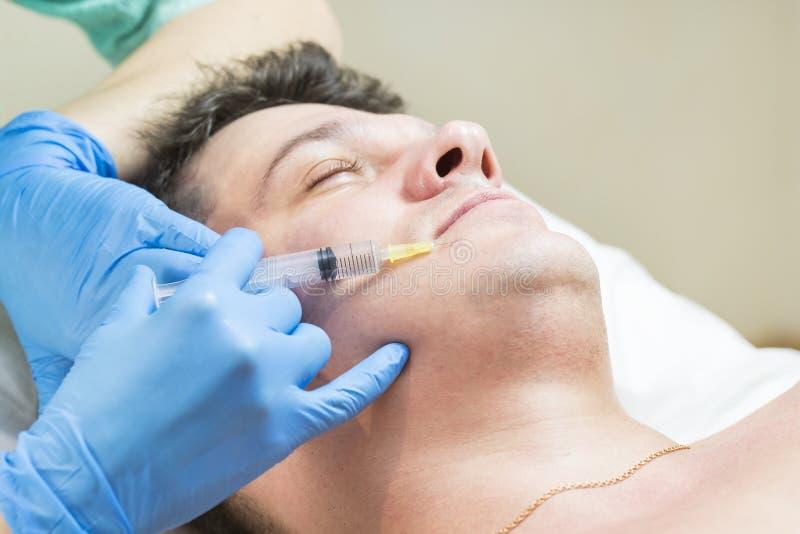 Passa um curso da clínica mesotherapy imagem de stock