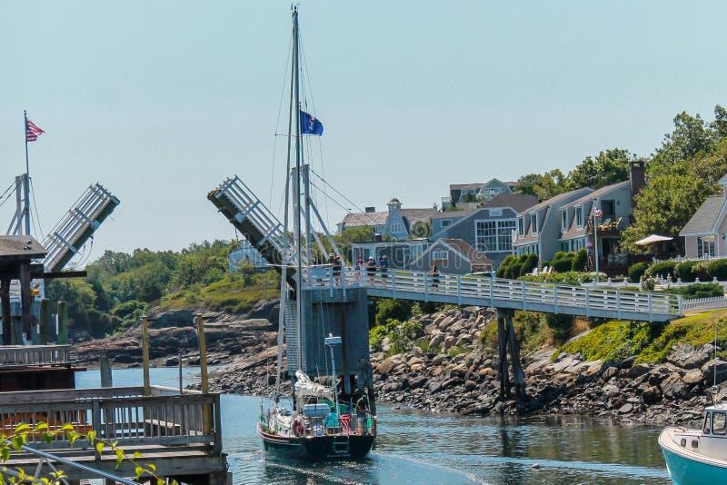 Passadiço em Perkins Cove Ogunquit, Maine fotos de stock