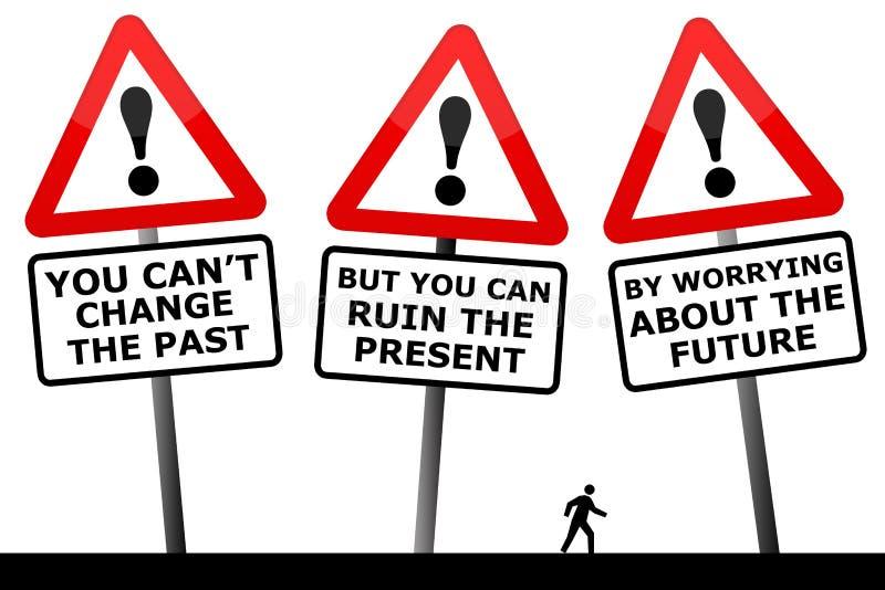 Passado e futuro ilustração do vetor