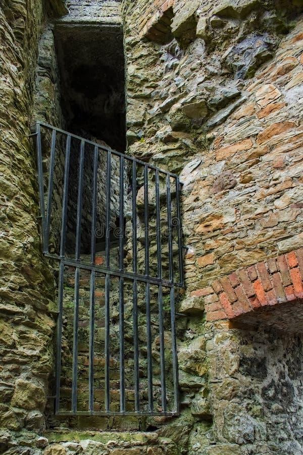 Passage étroit de château de Dungarvan photo libre de droits