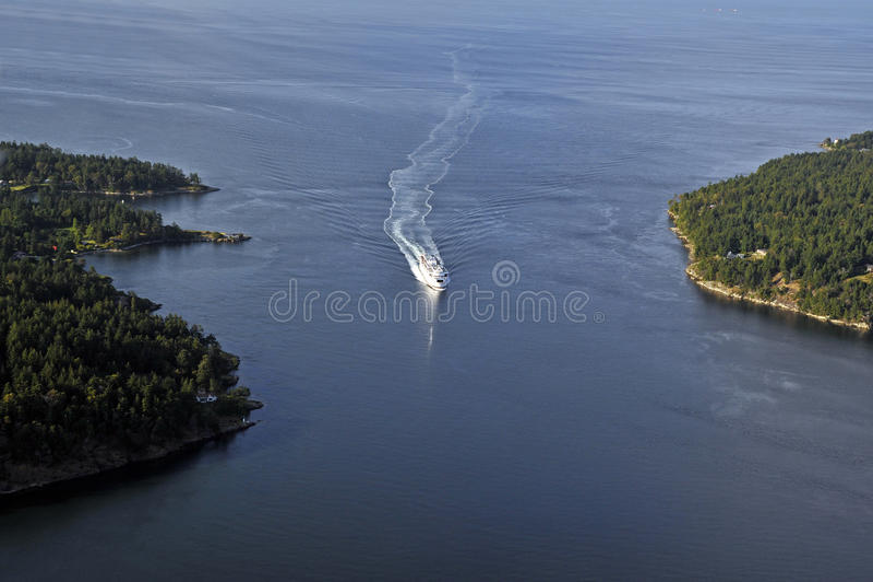 Passage actif, îles de Golfe image libre de droits