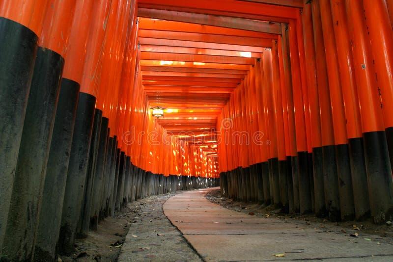 Passage arqué de Fushimi Inari Torii photographie stock libre de droits