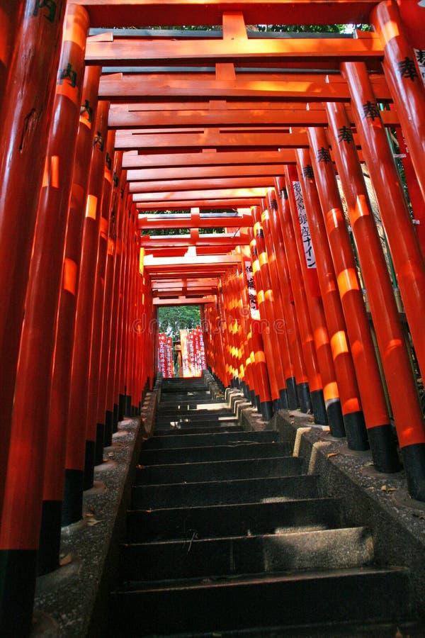 Passage arqué de Torii photographie stock
