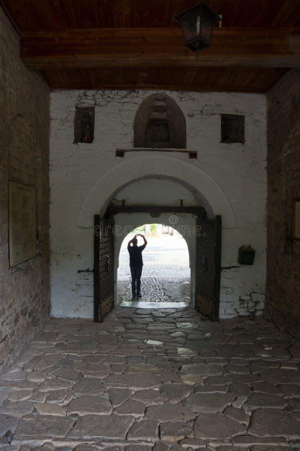 Passage in Bachkovo Monastery. Bachkovo Monastery - the second eminence Orthodox monastery in Bulgaria. Located Bachkovsky monastery in the mountains near the royalty free stock image