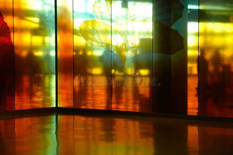 Passage couvert d'aéroport photos stock