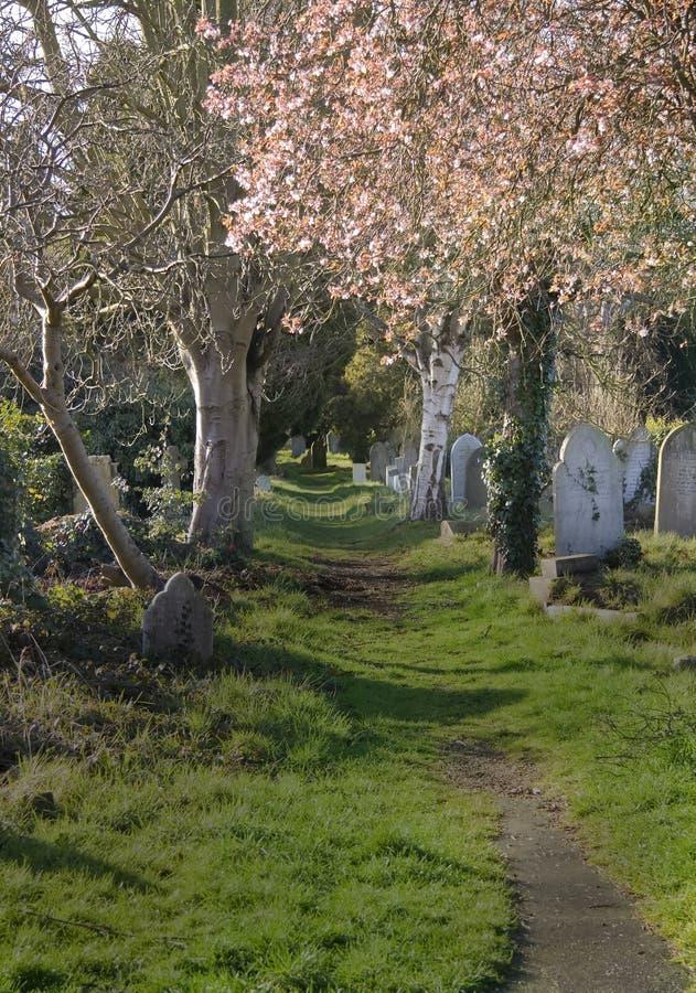 Passage couvert de cimetière photographie stock libre de droits