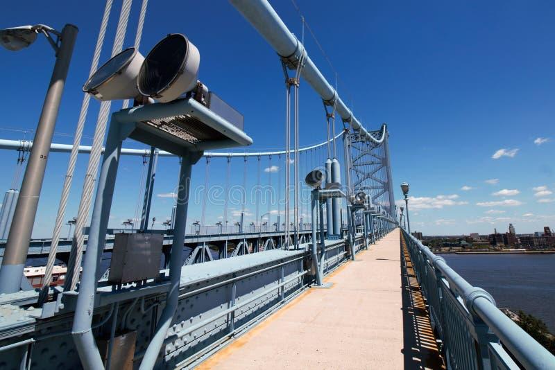Passage couvert de pont au-dessus d'une rivière image libre de droits