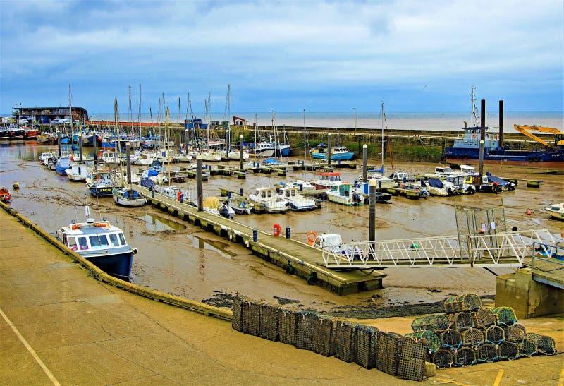 Passage couvert par le port de Bridlington, Yorkshire est, avril 2019 photographie stock libre de droits
