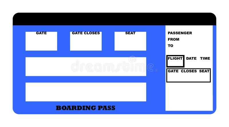 Passage d'embarquement illustration stock