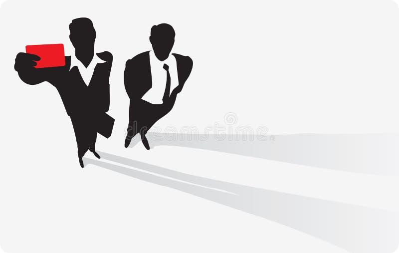 passage d'homme d'affaires illustration de vecteur