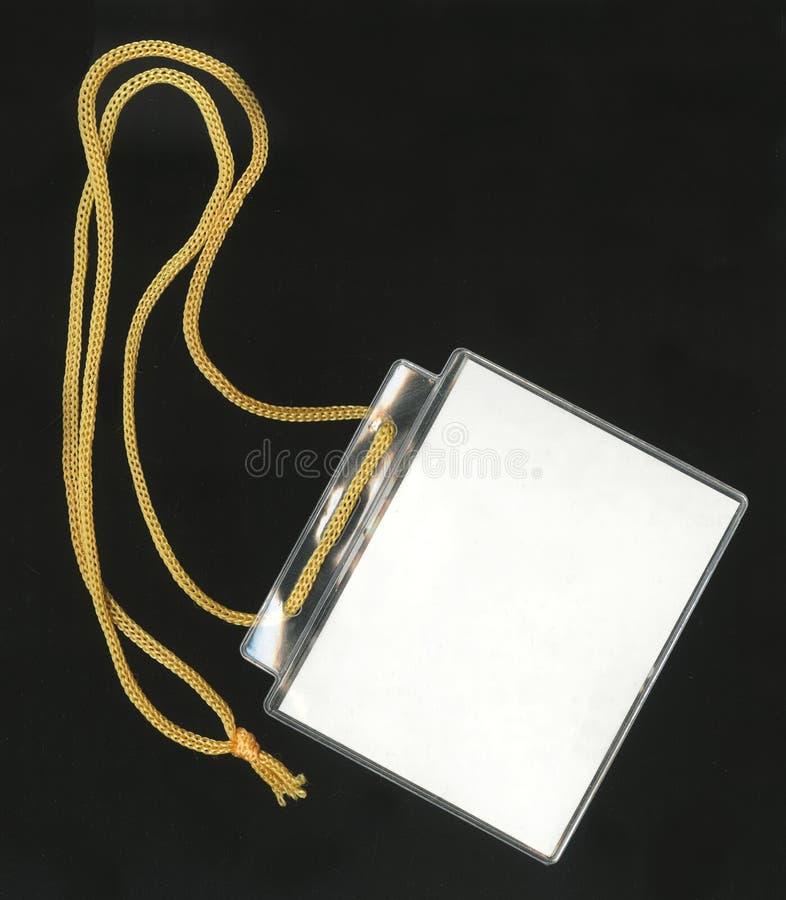 Passage d'identification de garantie Insigne blanc avec l'espace de copie (+ chemin de découpage) photos stock