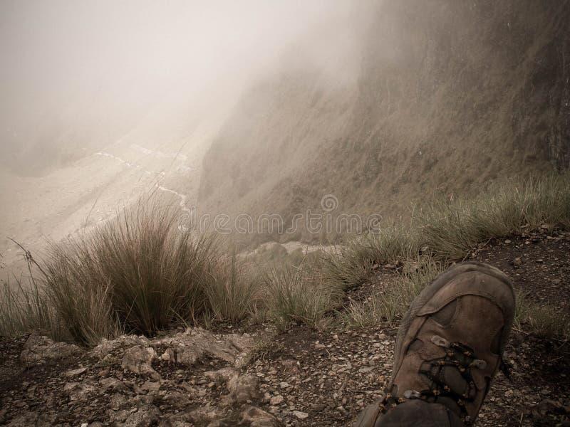 Passage d'Inca Trail From Dead Woman images libres de droits