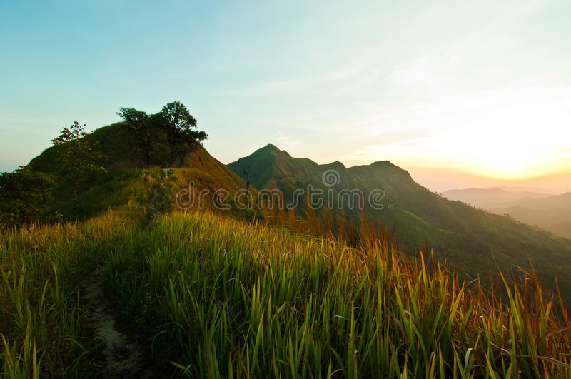 Passage dans la montagne photo libre de droits