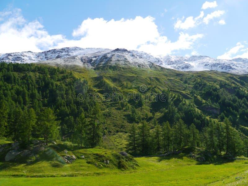 Passage de Bernina ou Passo del Bernina en Suisse photo stock