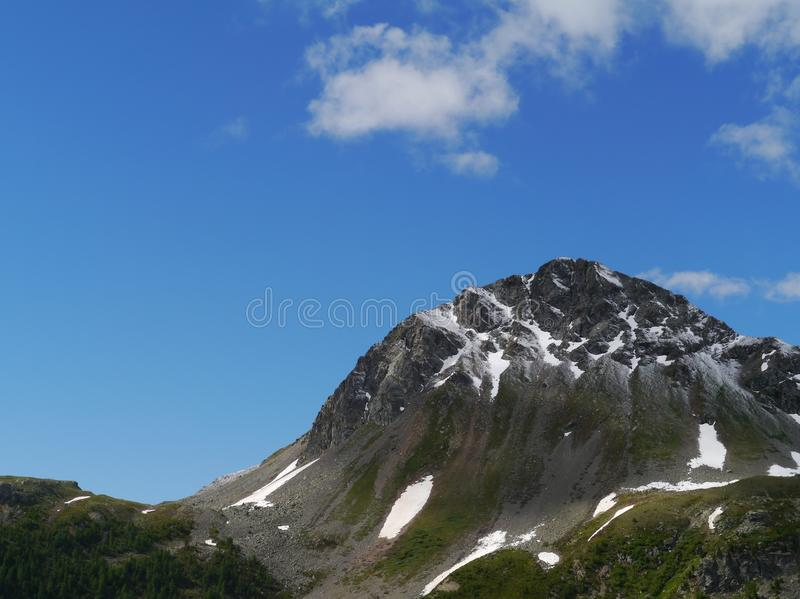 Passage de Bernina ou Passo del Bernina en Suisse image libre de droits