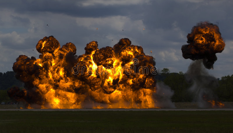 Passage de bombardement images stock