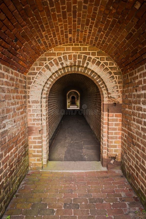 Passage de brique image stock