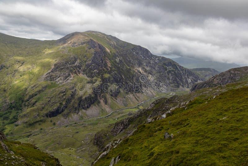 Passage de Llanberis dans Snowdonia photo libre de droits