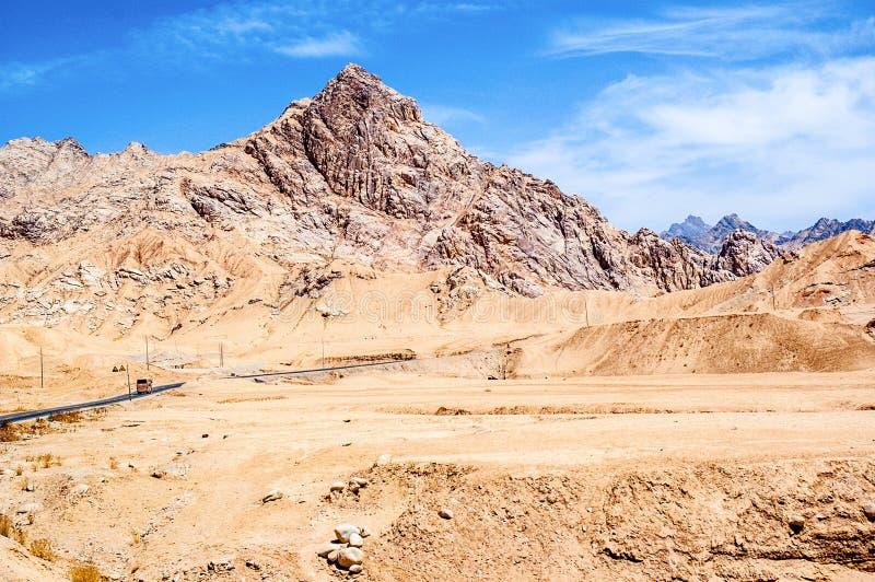 Passage de montagne de scène-Kunlun de plateau tibétain photos stock