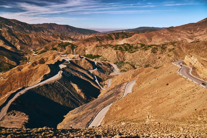 Passage de montagne de Tizi n Tichka au Maroc photo libre de droits