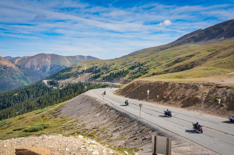 Passage de Motorcyles - de Loveland - le Colorado photo stock