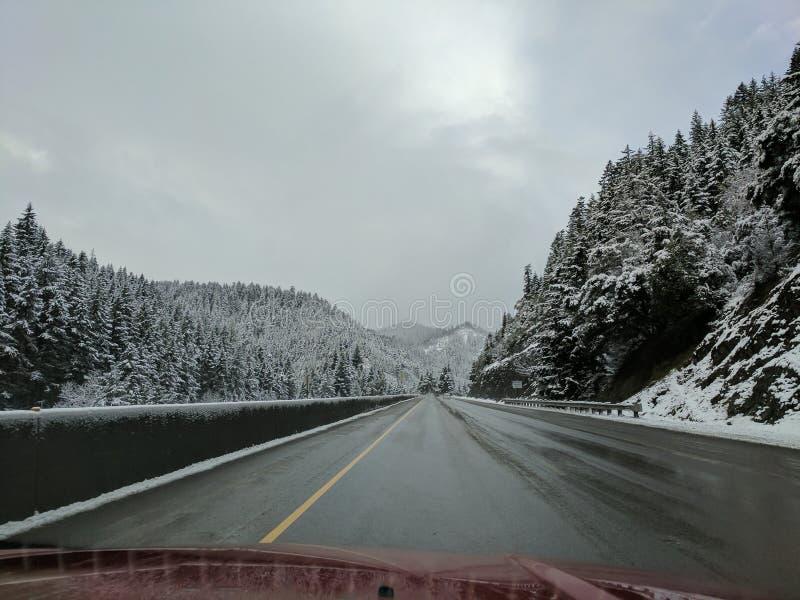Passage de neige image libre de droits