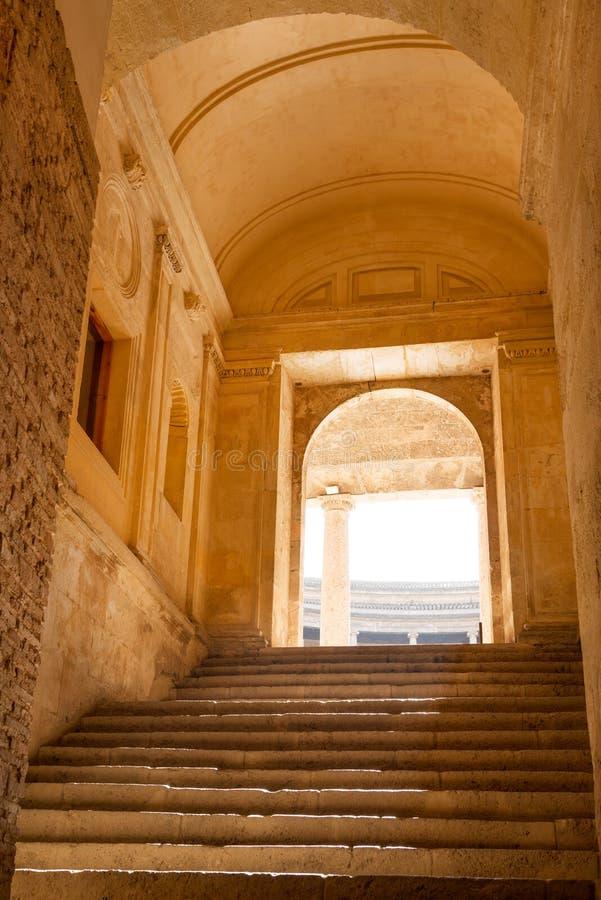Passage de palais d'Alhambra photo libre de droits