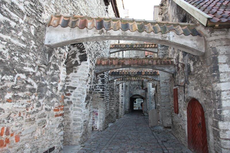 Passage de St Catherine - Tallinn - Estonie image libre de droits