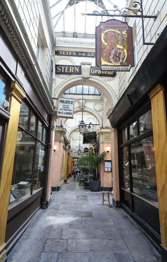 Passage des Panoramas is de oudste behandelde passages van Parijs royalty-vrije stock foto
