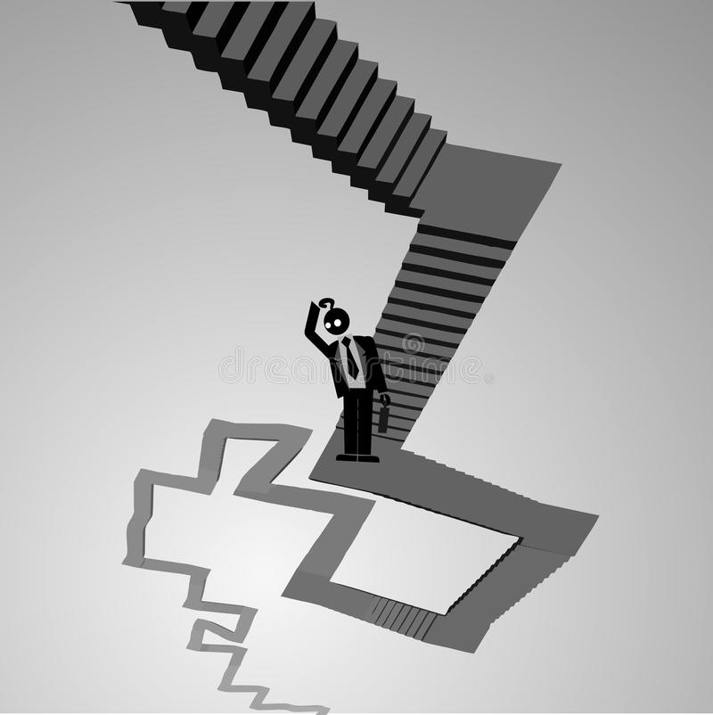 Passage disoriented. Creative design of passage disoriented royalty free illustration