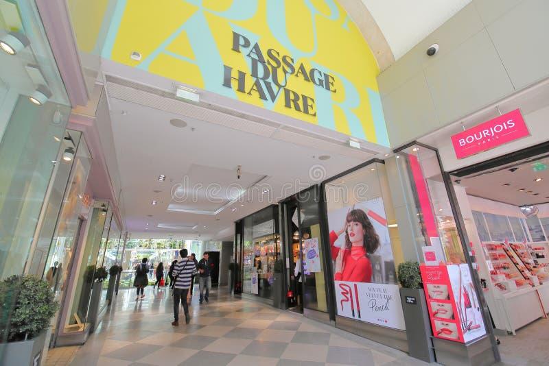 Passage du Havre galerie commerciale Paris France photos libres de droits